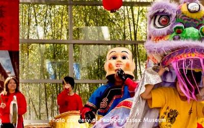 Lunar New Year Celebration in Boston - photo courtesy Peabody Essex Museum