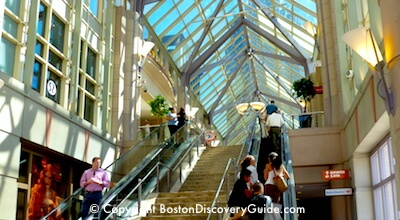 Boston shopping at Prudential Center mall