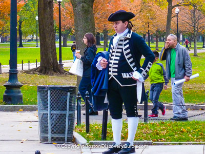 Top Boston Attraction: Costumed Guide in Boston Common