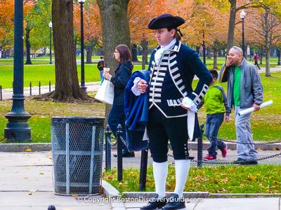 Boston's Freedom Trail: Costumed Guide in Boston Common
