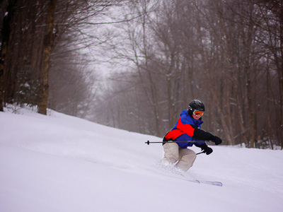 New England ski areas include Vermont's Middlebury College Snow Bowl