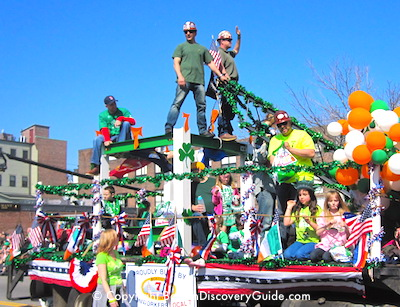 St Patrick's Day Parade in Boston