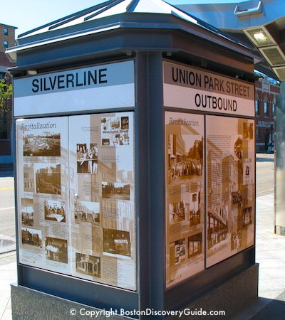 Silverline station sign - Boston's South End