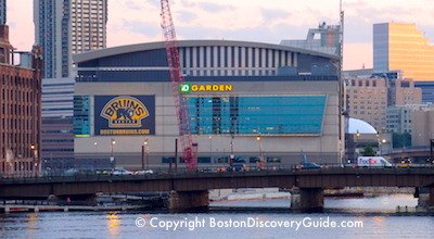 TD Garden, where Boston Bruins and Boston Celtics play home games over Thanksgiving weekend