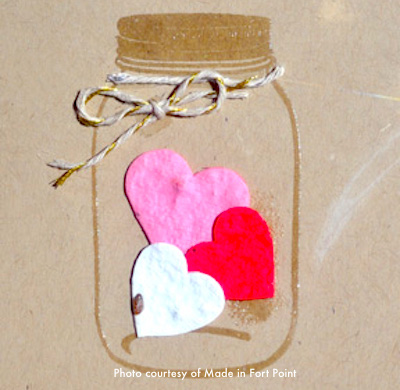 Make your own valentine at Made in Fort Point store