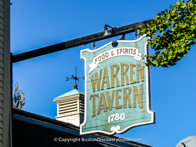 Warren Tavern in Charlestown neighborhood, Boston MA