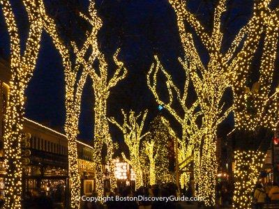 Christmas lights in Boston