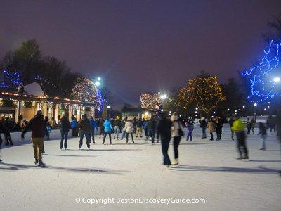 Where to ice skate in Boston