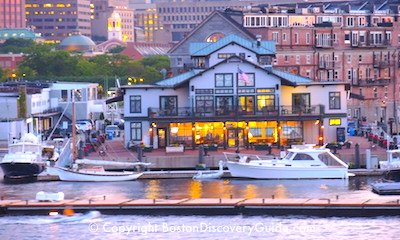Boston Yacht Haven Inn in downtown Boston - Faneuil Marketplace is on left behind the inn
