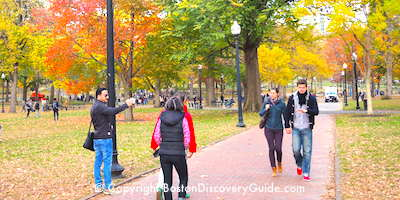 Boston's Boston Common and its  attractions