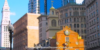 Historic Downtown Boston sightseeing  attractions
