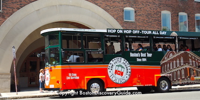 Boston Hop On Hop Off Trolleys