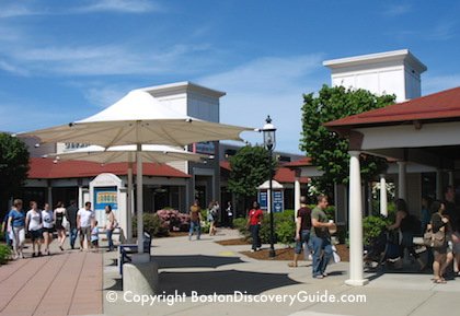 Wrentham Village Outlets near Boston on a summer day