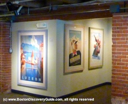 Photos of vintage travel posters in Grand Circle Gallery
