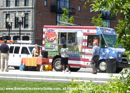 Food truck on Rose Kennedy Greenway in Boston