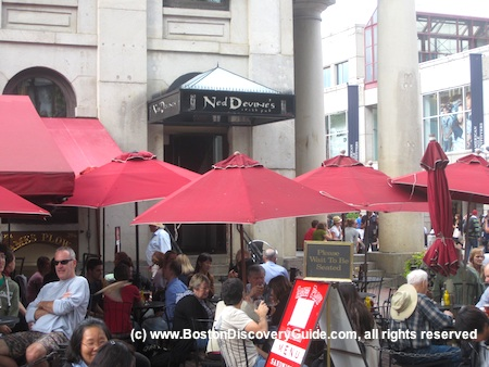 Outdoor dining at Ned Devine's in Boston's Faneuil Marketplace