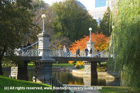 Boston public garden make way for ducklings swan boats Boston public garden map
