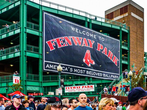 Crowd of fans outside Fenway Park after a Red Sox Game - Top June event in Boston