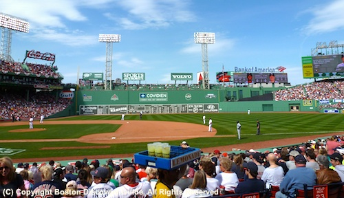 Red Sox game at Fenway Park, at the heart of Boston's Fenway neighborhood