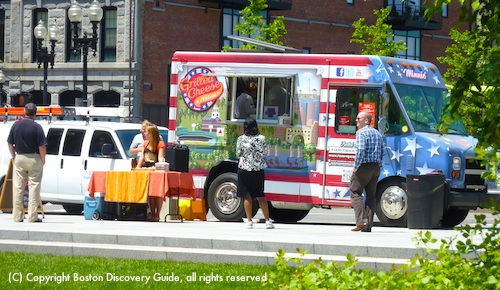 Boston food truck locations - photo shows Greenway site