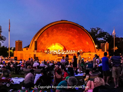 Concert at Boston's Hatch Shell on the Esplanade in July
