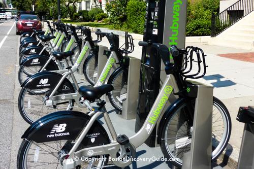Hubway bikes in Back Bay