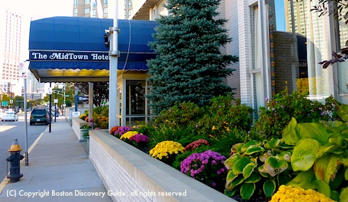 Midtown Hotel in Boston, MA - located on Huntington Ave in Back Bay