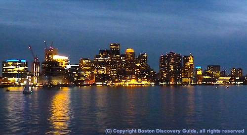 Boston skyline photographed during Odyssey cruise