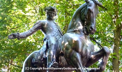 Paul Revere on Horseback - statue in Boston's North End