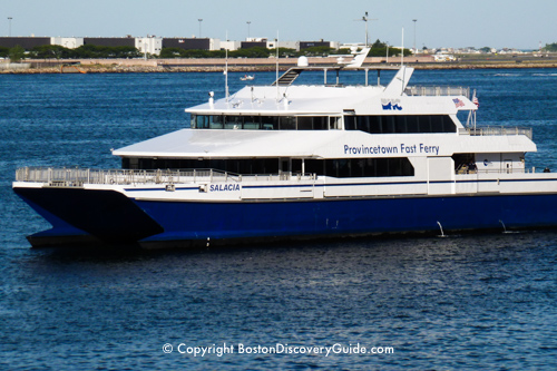 Fast ferry to Provincetown leaving Boston