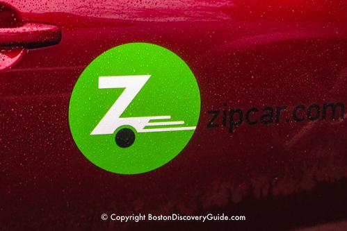 Zipcar rentals in Boston