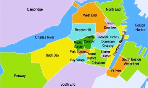 Boston Sightseeing Map & Guide