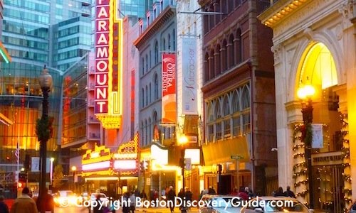 Boston's Theatre District Shows & Performances