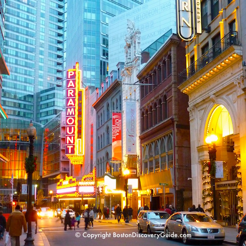 Boston neighborhoods:  Theatre District