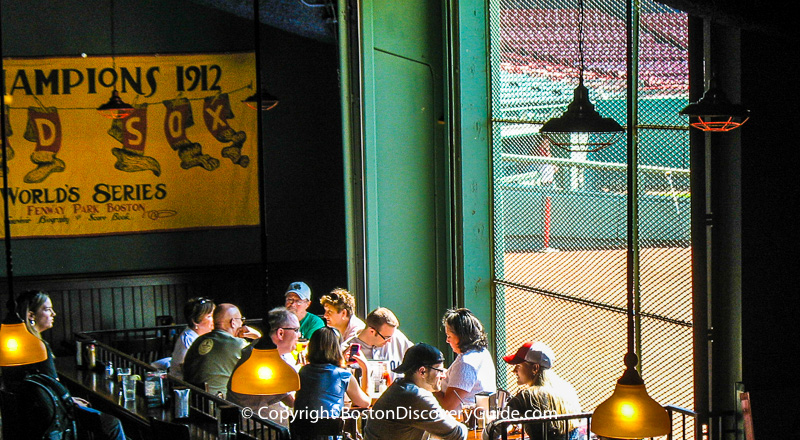 Bleacher Bar offers something unique for sports fans:  A direct view of Fenway Park from its under- the-stands loca