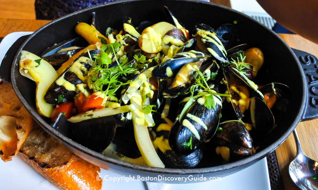 Mussels at Bar Boulud in Back Bay