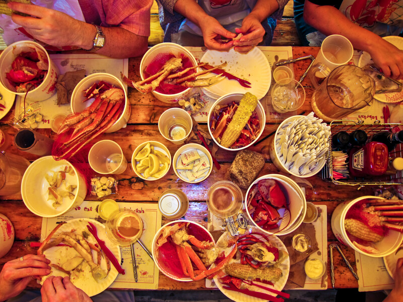 Crab dinners at the Barking Crab - photo courtesy of Lars Plougmann