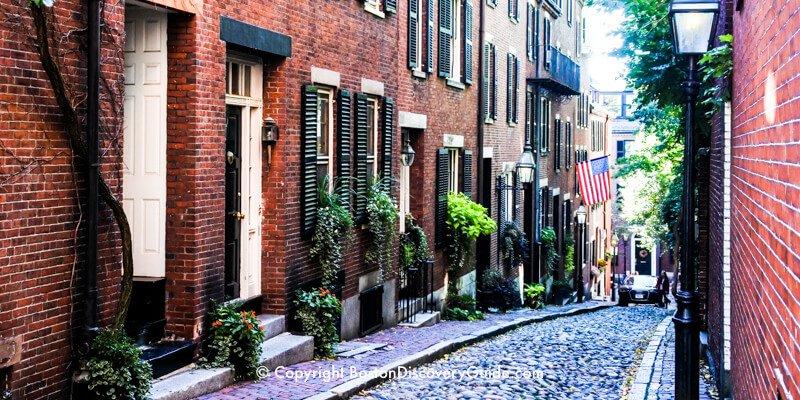 Acorn Street in Boston's Beacon Hill neighborhood