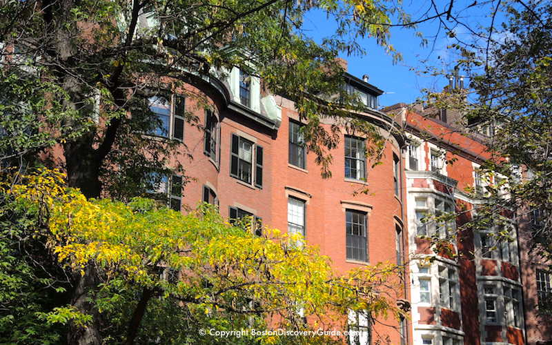 Beacon Hill mansions - Early October