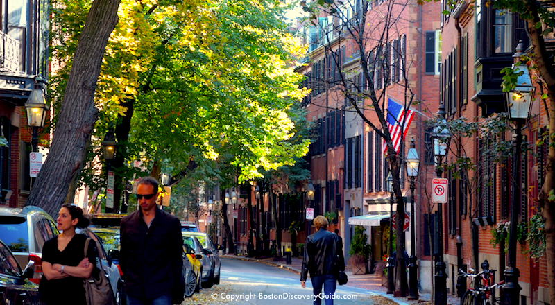 Boston's Beacon Hill neighborhood on a September afternoon