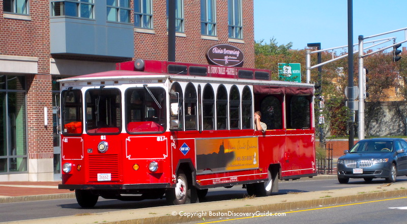 Beantown Trolley in Boston's historic Charlestown neighborhood