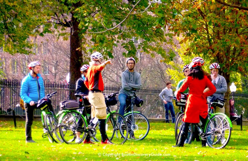 Bike tour on Boston Common - Mid-October