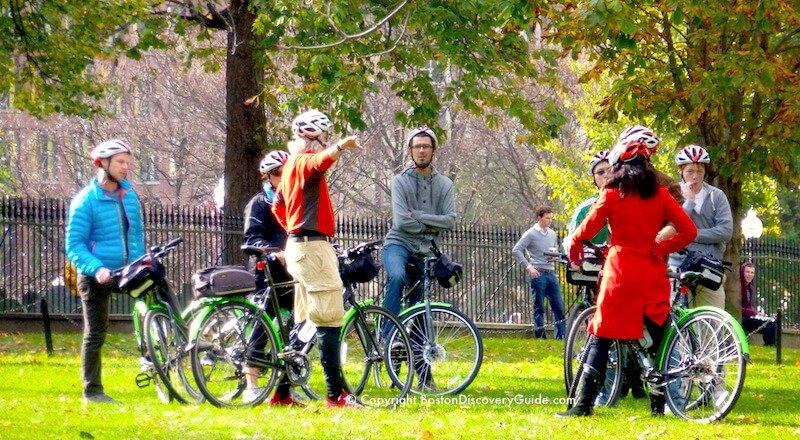 Bike tour on Boston Common
