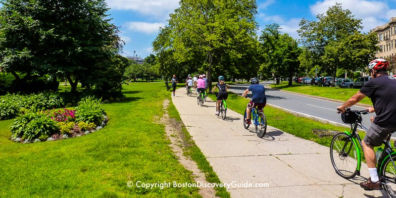 Boston bike tours for kids and families