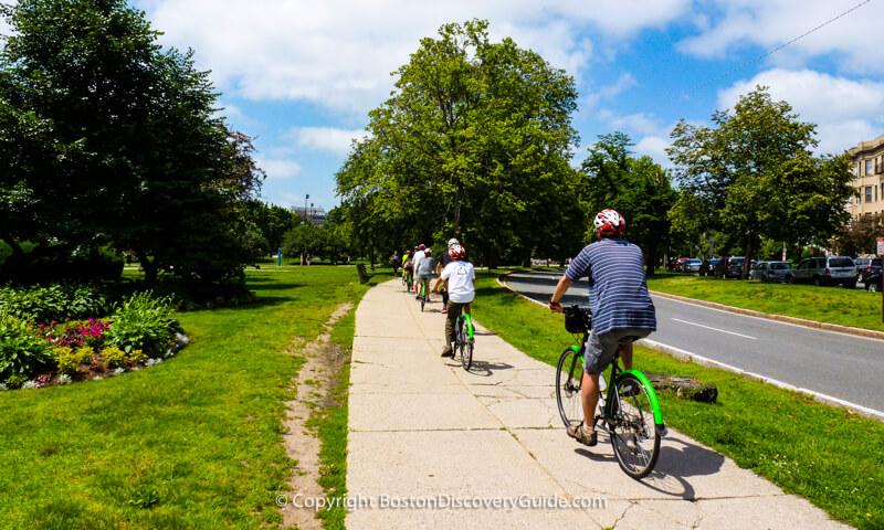 Boston bike tour through Fenway neighborhood