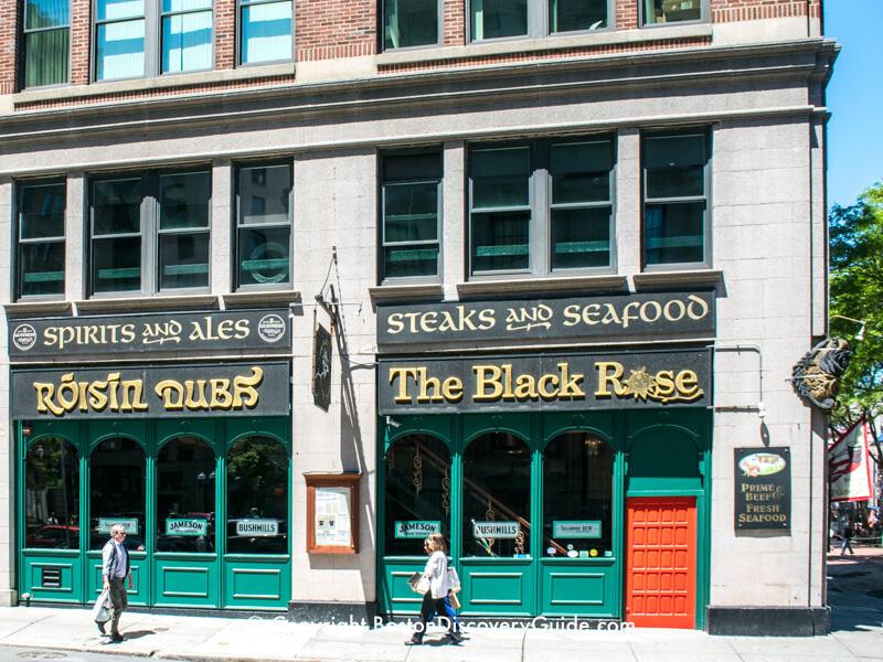 The Black Rose Irish pub in Downtown Boston