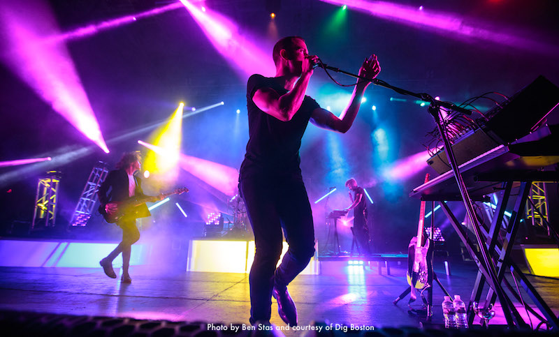 M83 in concert at Rockland Trust Bank Pavilion