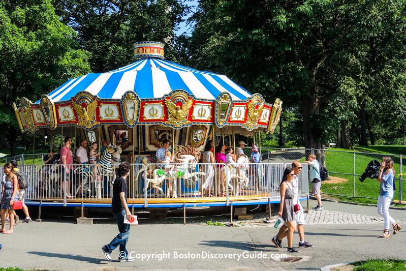Photo of Boston Common Carousel - Open in April