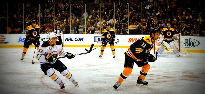 Bruins playing at TD Garden - Photo courtesy of SandToGlass