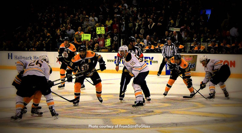 Bruins playing at TD Garden - Photo courtesy of SandToGlass